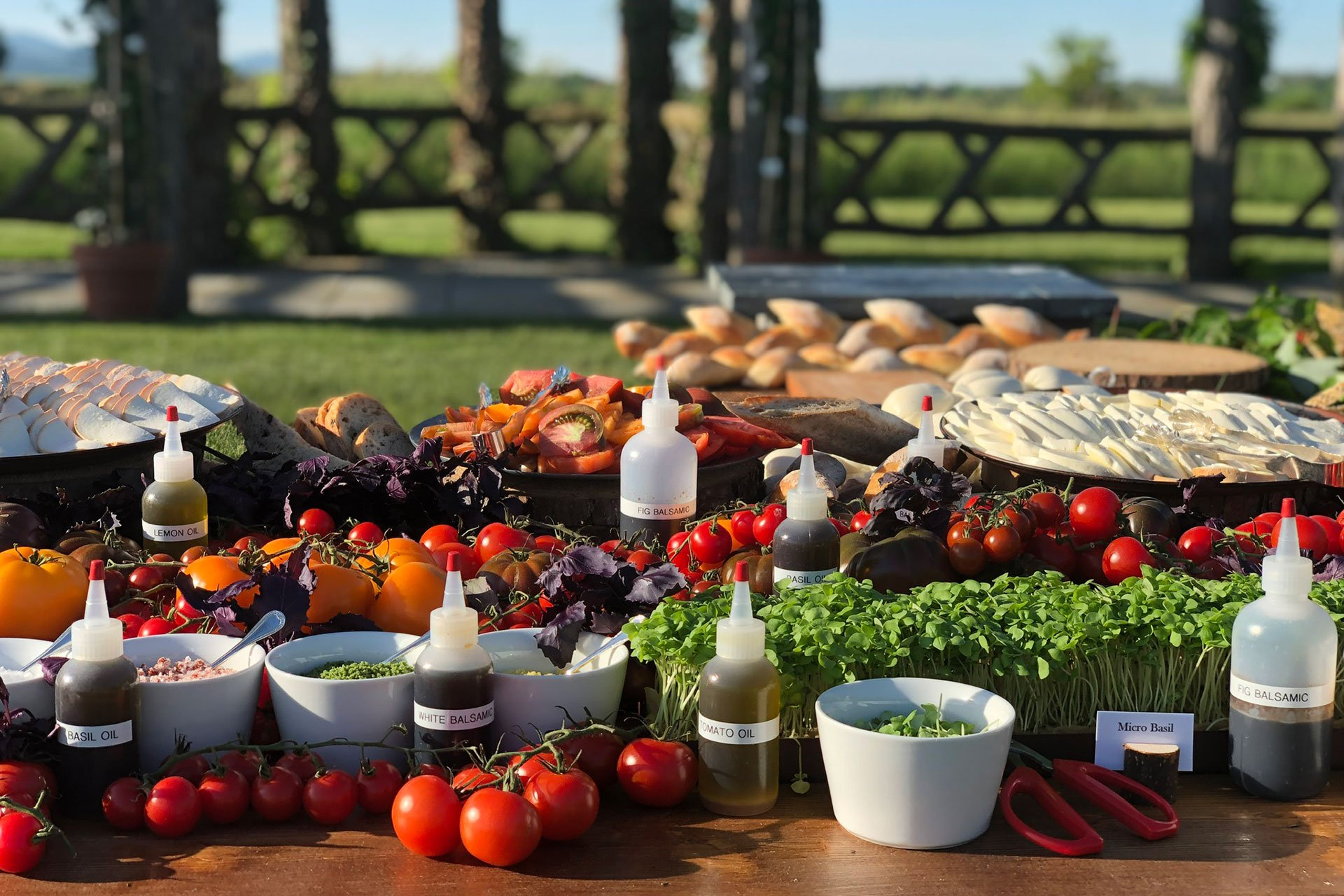 Hunt & Harvest catering table